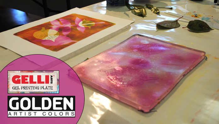 The Painterly Print with Gelli Plates & Golden Acrylics, 1-Day Workshop, with Artist, Adria Arch (Adults 17+)