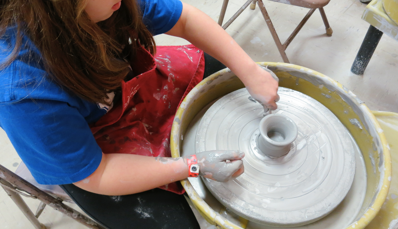 Mugs & More: Mastering the Potter's Wheel w/Sandra Barrett (Ages 9-13)