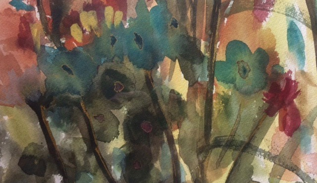 Building Flowers in Watercolor, 1-Day Workshop, with Artist, Judith Bertozzi (Adults 17+)