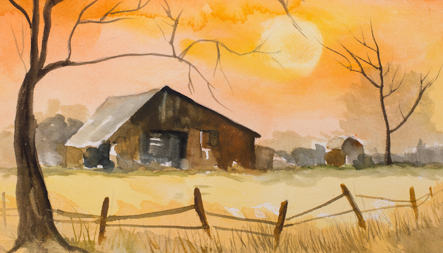 Winter Watercolors w/Ben Macomber (Adults 17+)