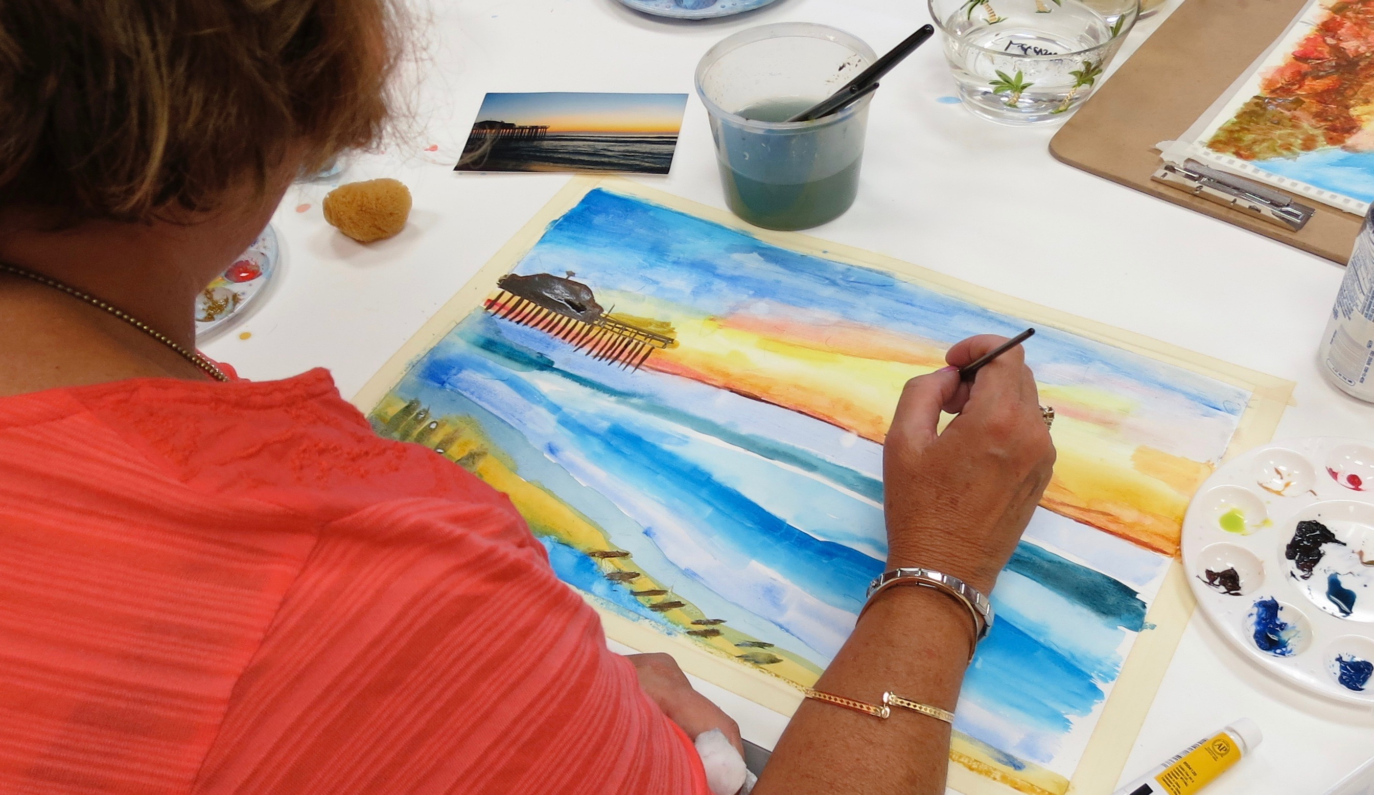 Spring Inspired Watercolors w/Ben Macomber (Adults 17+)