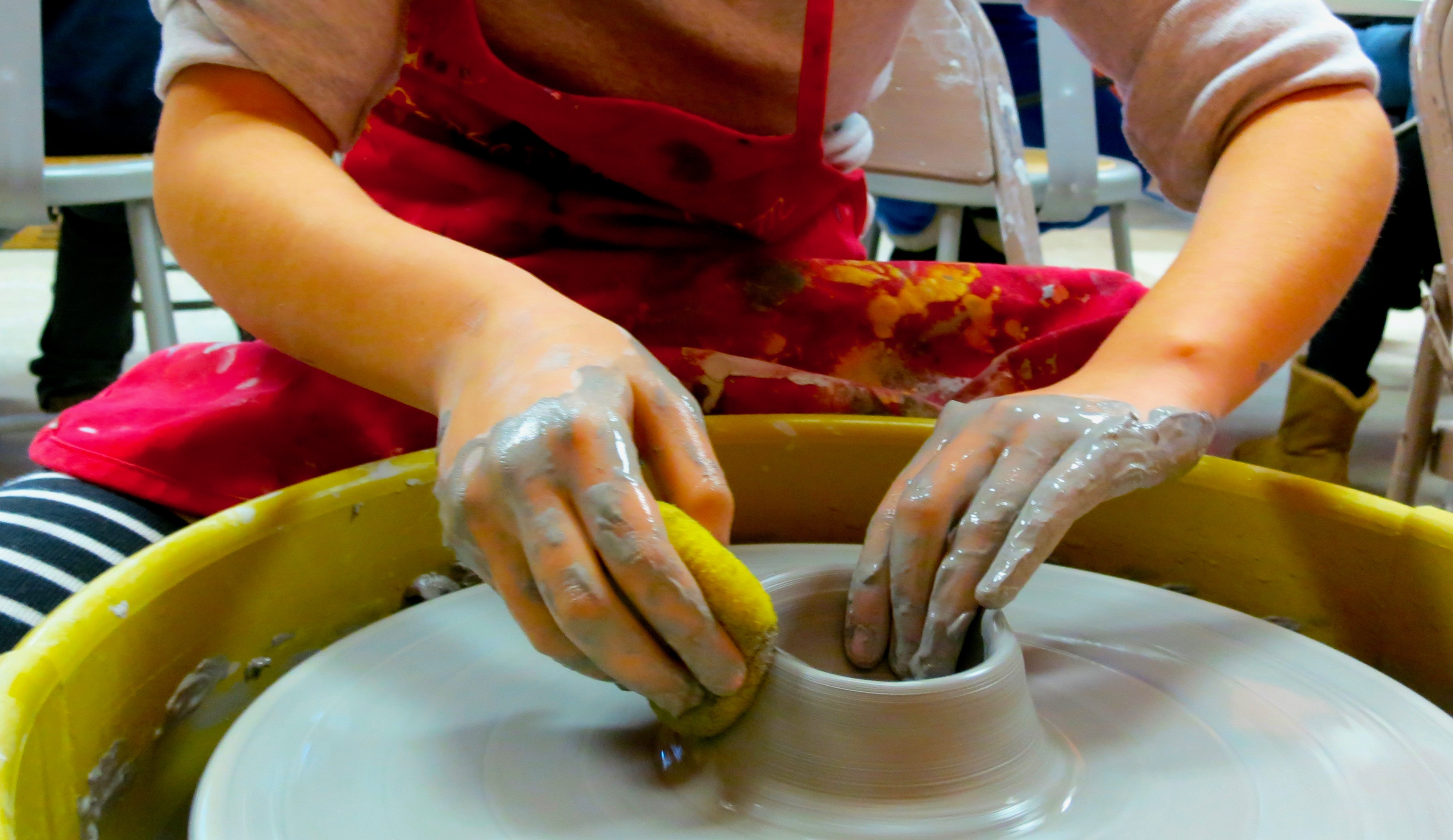 Slippery Forms: Mastering the Potter's Wheel w/Sandra Barrett (Ages 9-13)