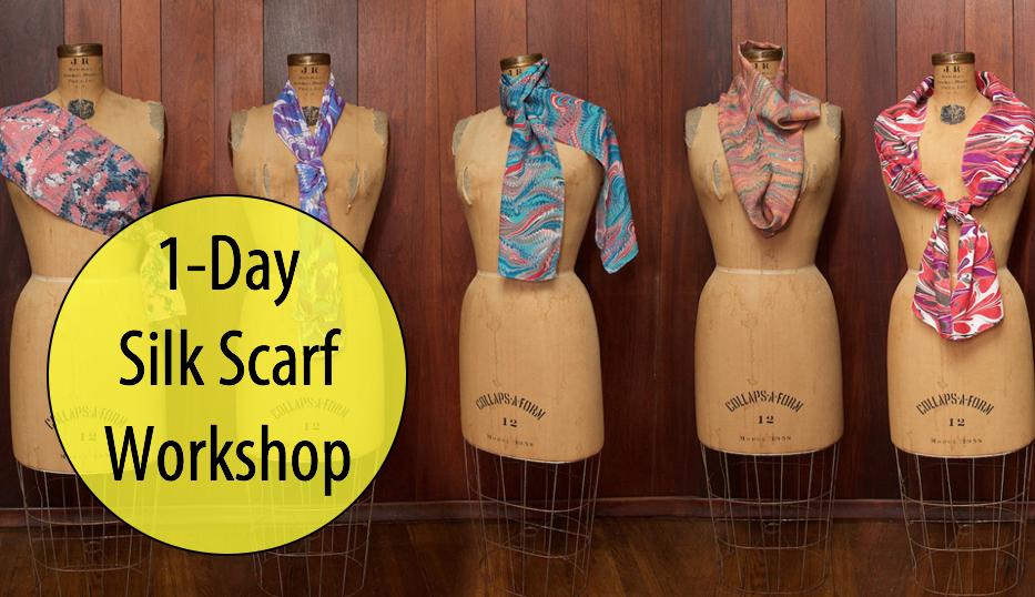 NEW! Marbling Silk Scarves w/Artist, Cristina Hajosy, 1-Day Workshop (Adults 17+)