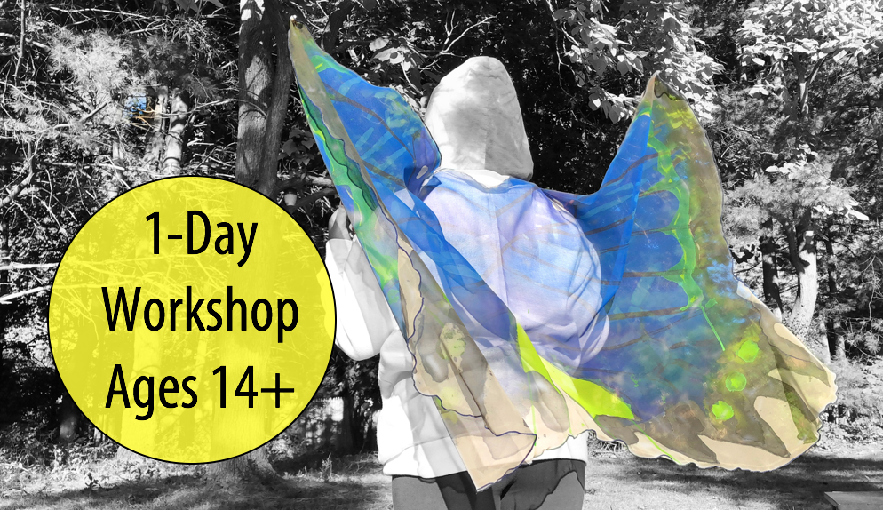 NEW! Wearable Wings: Creating with Fabric & Paint w/Renée Harding, 1-Day Workshop (Adults & Teens 14+)