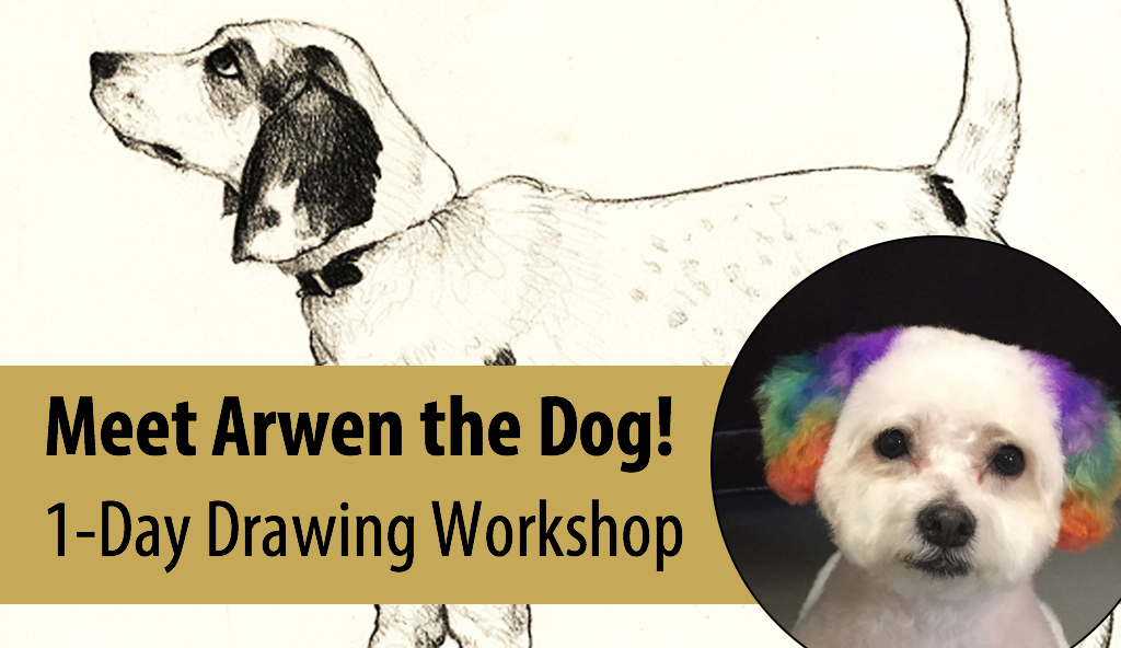NEW! A DOG'S Life – Live Animal Adventures in Art w/Abby Rovaldi, 1-Day Drawing Workshop (Ages 8+)