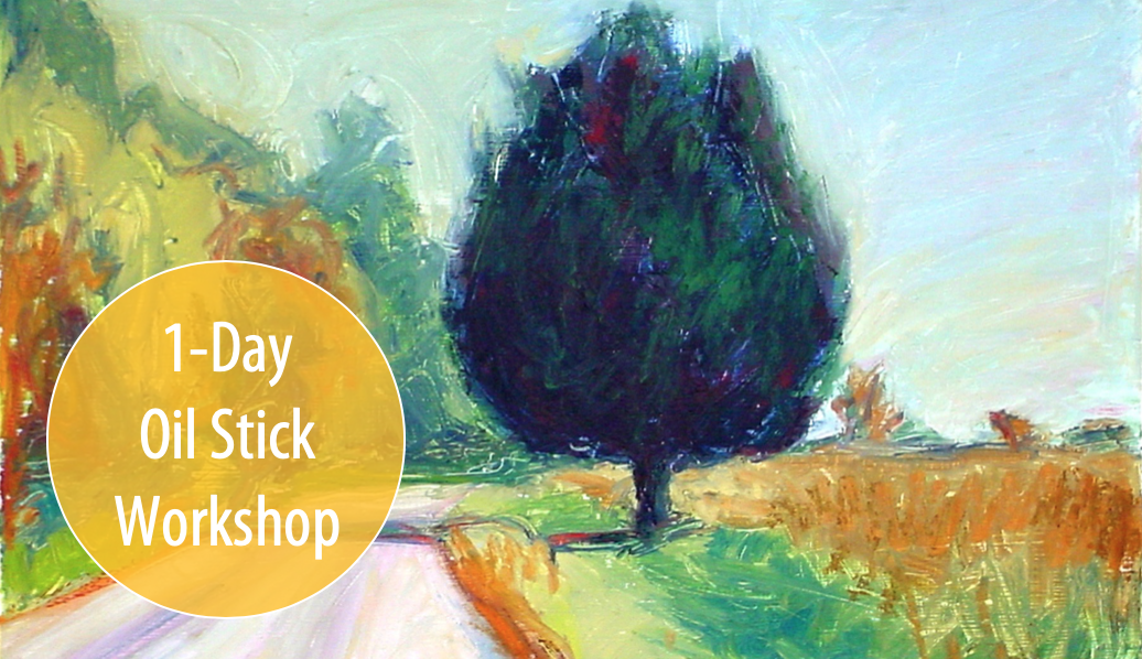 NEW! No Brush Necessary! Making Oil Stick Paintings w/Carolyn Letvin, 1-Day Workshop (Adults & Teens 17+)