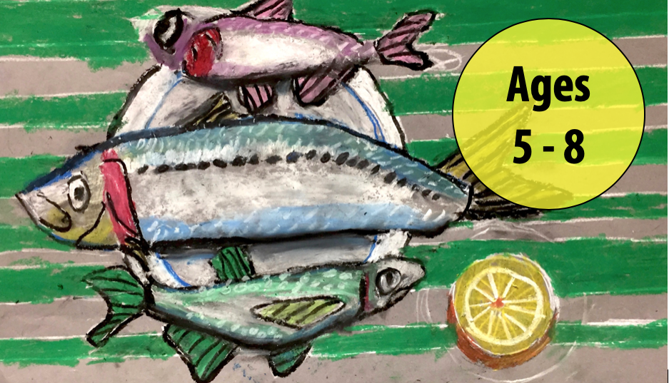 Summer Art Week 3: July 13-17, Oil Pastels/Cartooning (Ages 5-8)