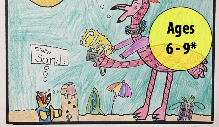 Summer Art Week 8: August 17-21, Cartooning/Oil Pastels (Ages 6-9*)