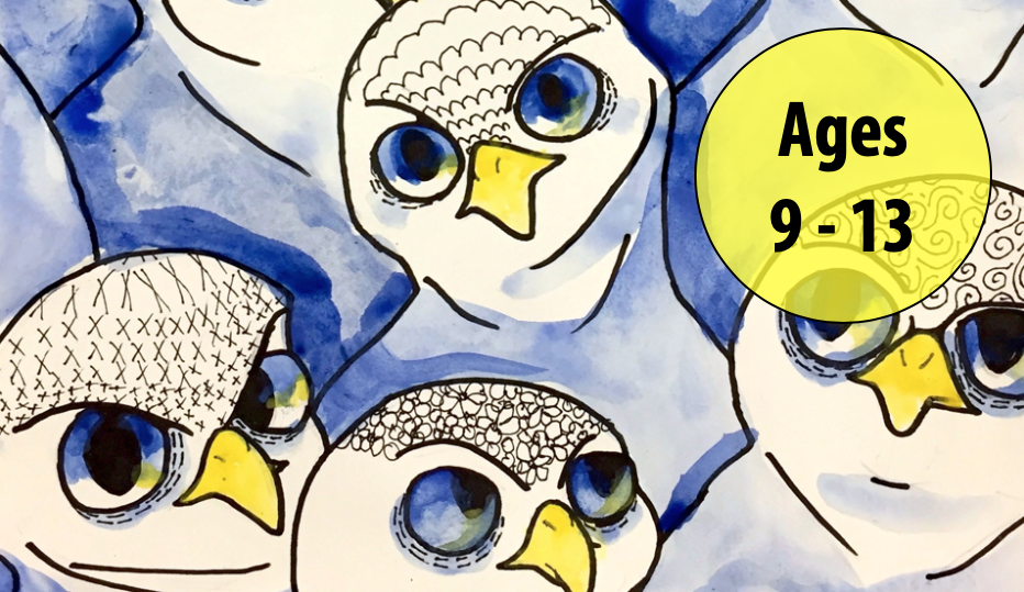 Summer Art Week 8: August 17-21, Cartooning/Oil Pastels (Ages 9-13)