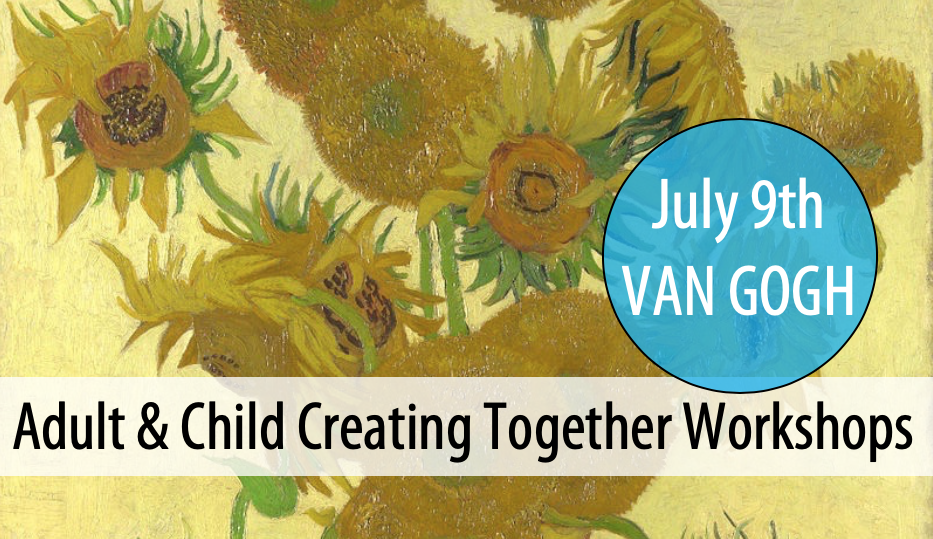 NEW! Adult & Child Creating Together - Summer Workshop Series #2: Thurs, July 9th from 3-5pm (Ages 5+)