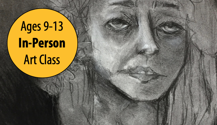NEW! Drawing Silhouettes, Skeletons & Selfies w/Lisa Granata For Ages 9-13 (In-Person)