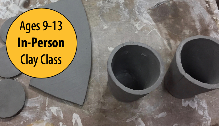 NEW! Clay Hand-building: Cornucopias, Pumpkin Jars & Penholders w/Tracy Korneffel For Ages 9-13 (In-Person)