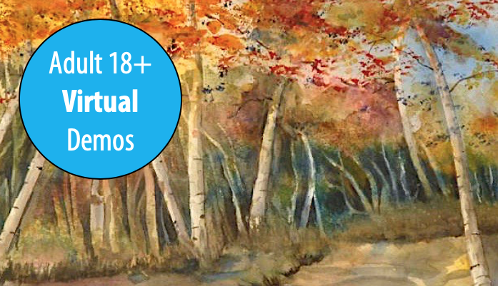 NEW! Falling For Watercolors - A Series of Autumn Demonstrations w/Ben Macomber For Adults 18+ (Virtual)