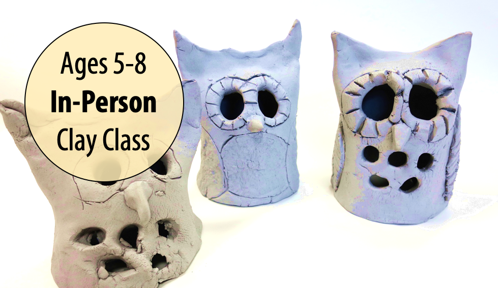 NEW! Snowy Owls, Otters & Icicles in Clay w/Tracy Korneffel For Ages 5-8 (In-person)