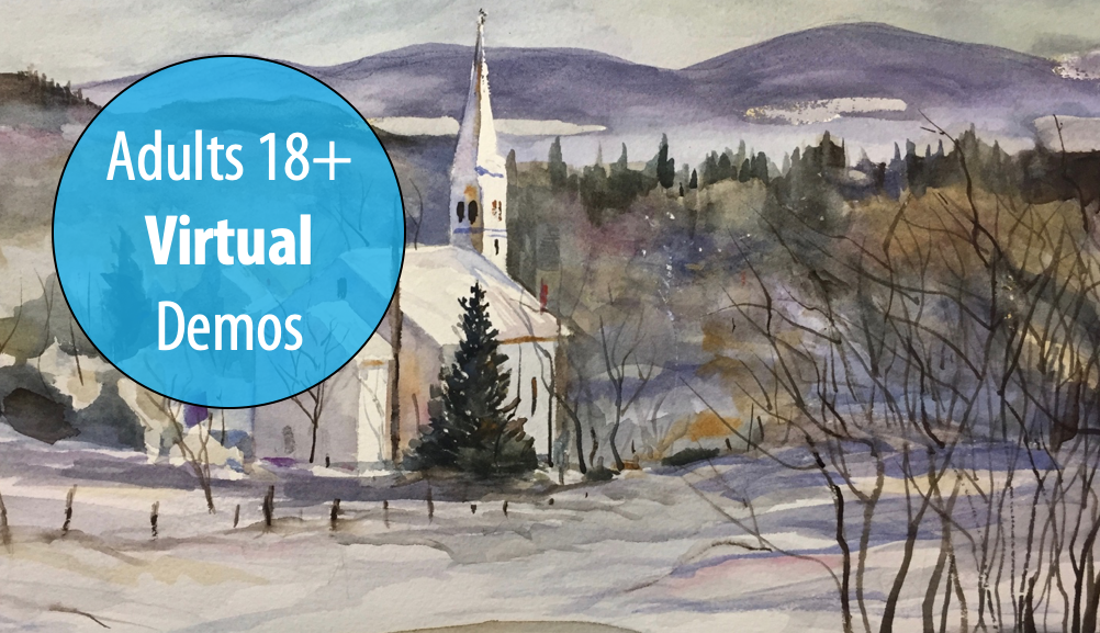 NEW! Winter Watercolors - A Series of Snowy Demonstrations w/Ben Macomber For Adults 18+ (Virtual)