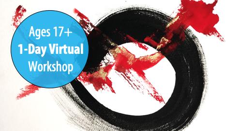 NEW! Enso Zen Circles w/Artists Carolyn Letvin & Rina Naik, 1-Day Workshop For Adults & Teens 17+ (Virtual)