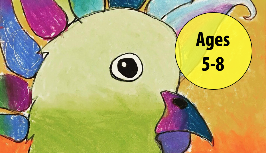 Summer Art Week 3: July 12-16, Chalk Pastels/Sculpture Non-clay For Ages 5-8 (In-person)