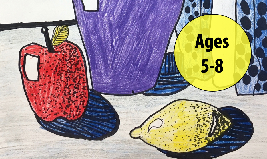Summer Art Week 5: July 26-30, Drawing/Collage For Ages 5-8 (In-person)