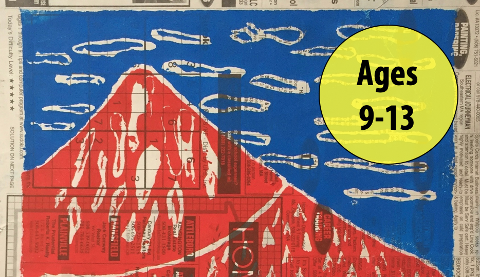 Summer Art Week 6: August 2-6, Printmaking/Painting For Ages 9-13 (In-person)