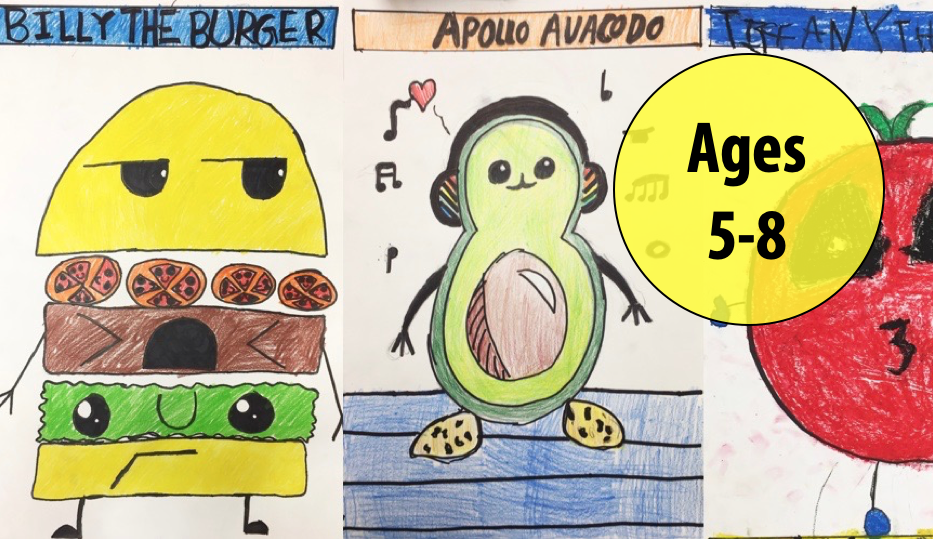 Summer Art Week 8: August 16-20, Cartooning/Oil Pastels For Ages 5-8 (In-person)