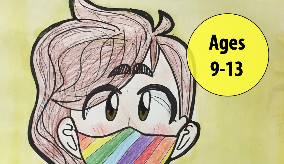 Summer Art Week 8: August 16-20, Cartooning/Oil Pastels For Ages 9-13 (In-person)