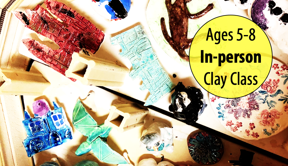 NEW! Fishes, Frogs & Sand Castles in Clay w/Sandra Barrett For Ages 5-8 (In-person)