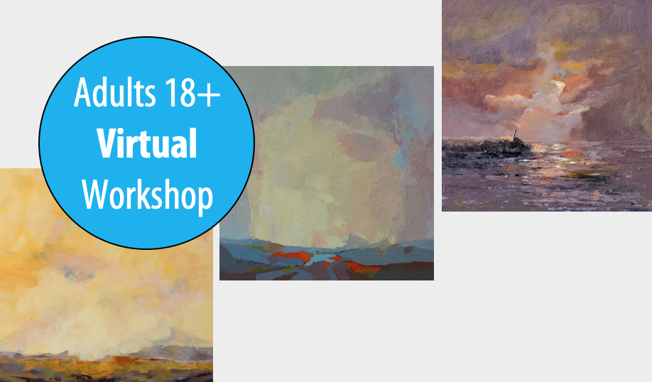 NEW! Color Play: Exploring Classical, Impressionistic & Modern Palettes w/Rina Naik, 1-Day Workshop For Adults 18+ (Virtual)