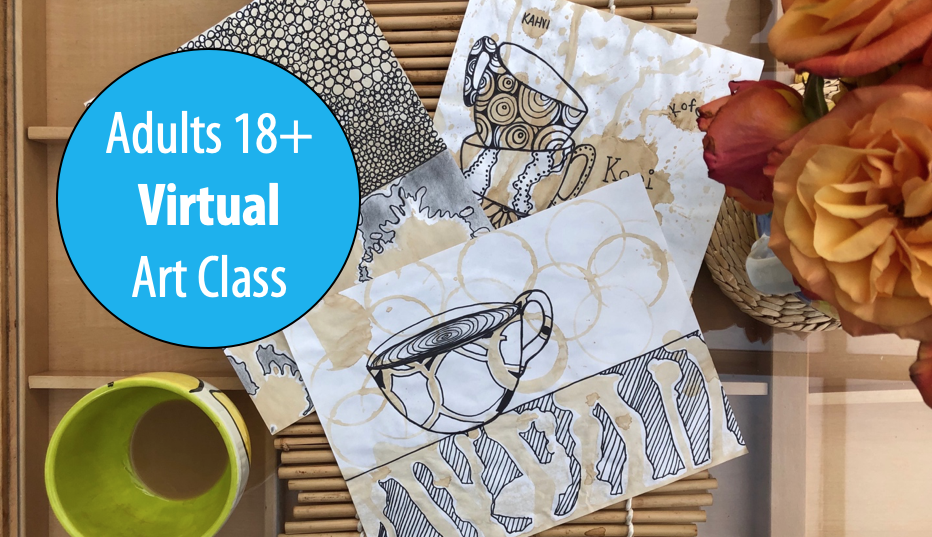 NEW! Coffee and Conversation: Creative Doodling and Journaling w/ Sandy Coleman For Adults 18+ (Virtual)