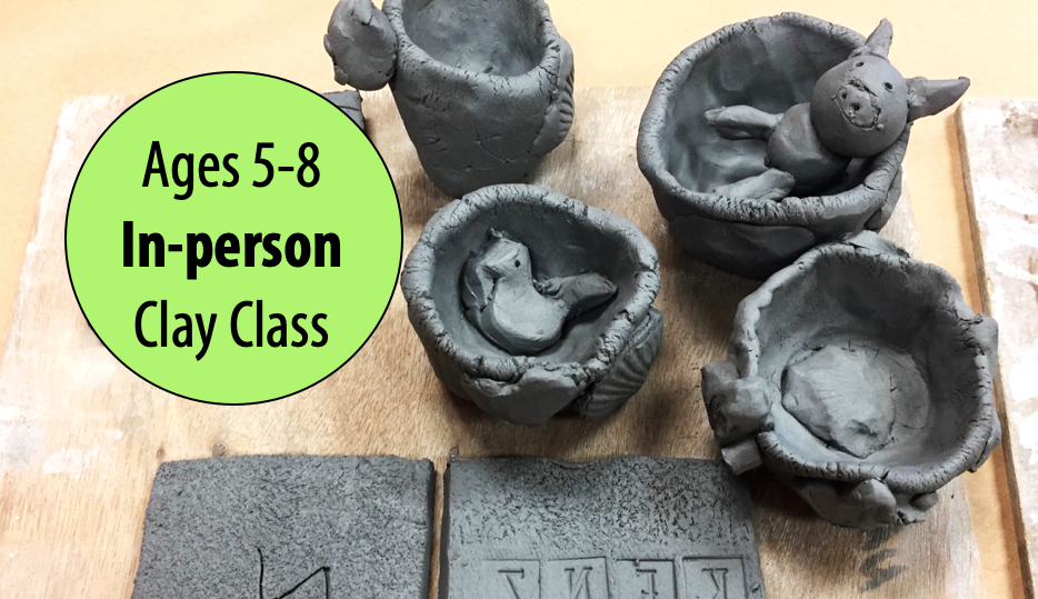 NEW! Hippos, Hedgehogs & Hamster Houses in Clay w/Sandra Barrett For Ages 5-8 (In-person)