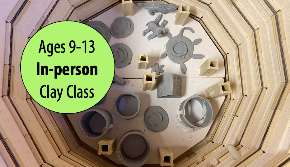 NEW! Down to EARTH! Clay Hand-building w/Sandra Barrett For Ages 9-13 (In-person)