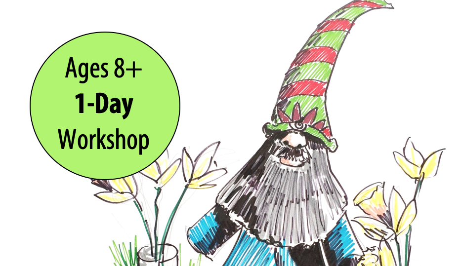 NEW! INKed Illustrations: Drawing Fun Characters w/Abby Rovaldi For Ages 8+ (In-person)