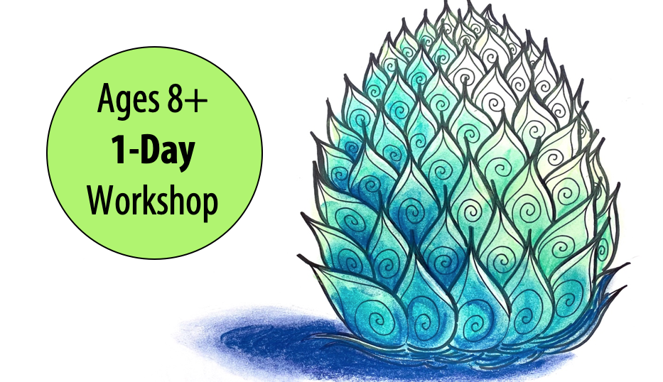 NEW! Drawing Dragon & Mermaid Egg Designs w/Abby Rovaldi For Ages 8+ (In-person)