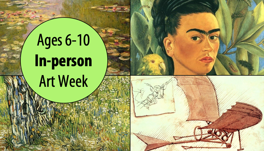 April Vacation Art Week, 4 Half-days For Ages 6-10 (In-person)