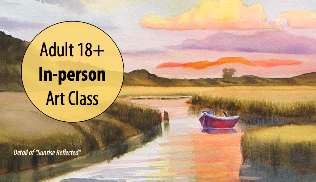 NEW! Sunrise, Sunset: Painting Sky, Land and Sea in Watercolors w/Kris Occhino For Adults 18+ (In-person)