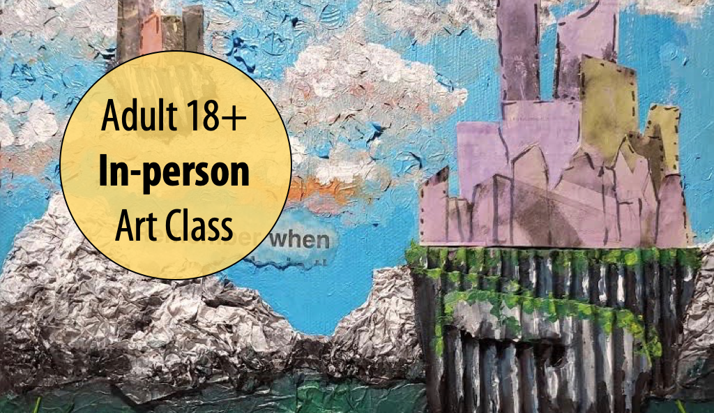 NEW! ART, PAPER, SCISSORS: Altered Surface Explorations w/Cindy Petruccillo For Adults 18+ (In-person)